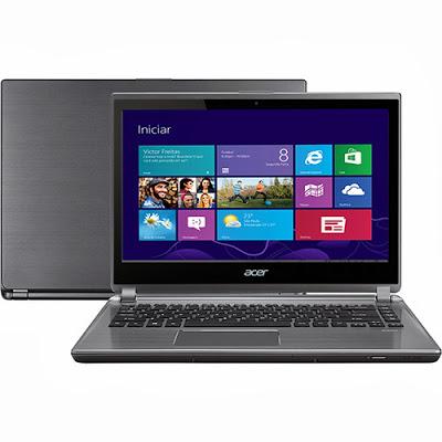 """Conheça o Notebook Ultrabook Acer Intel® Core i3-3227U, 4GB, HD 500GB, M5-481T-6650, 14"""", Webcam, Bluetooth, Wi-Fi e HDMI - Windows 8"""