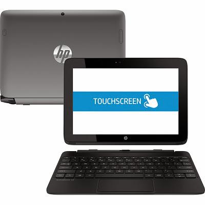 """Conheça o Notebook Conversível 2 em 1 HP SlateBook 10-h10nr x2 com NVIDIA Tegra 4 Quad-Core 2GB 16GB LED 10,1"""" Touchscreen Android 4.2. BT Informática."""