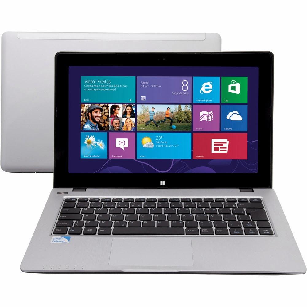 """Conheça o Notebook Philco 11B-S1023 com processador Intel Celeron, 2GB de memória, HD de 320GB, Saída HDMI e USB, Tela de 11.6"""", bateria de 4 células e Windows 8. BT Informática."""