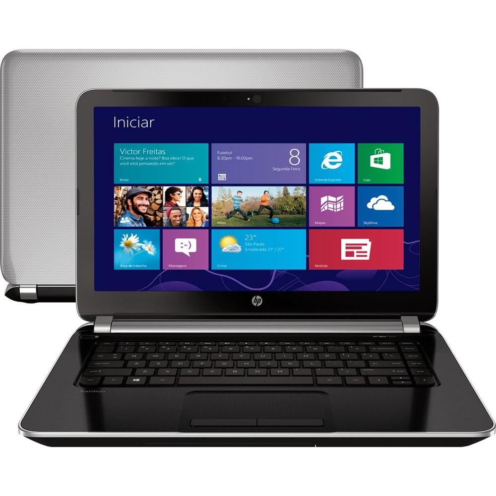 "Conheça o Notebook HP Pavilion 14-N030BR com Intel Dual Core i5-4200U 4GB 500GB Tela 14"" Windows 8"