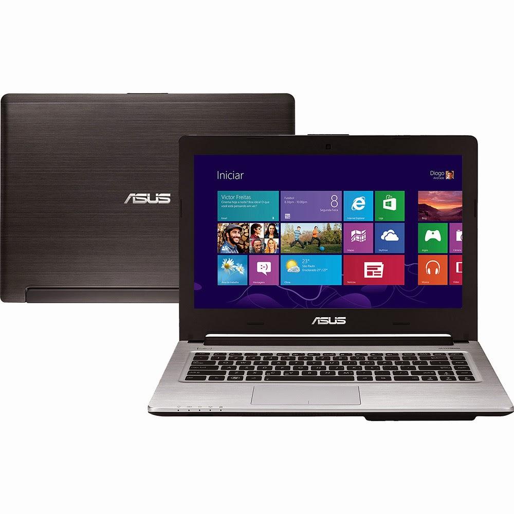 """Conheça o Ultrabook Asus S46CA/BRA-WX152H com processador Intel Core i7 (3517U), 6GB de Memória, HD de 500GB + 24GB SSD, Tela LED de 14"""", Bluetooth, Conexões USB e HDMI, Gravador de DVD, Bateria de 4 Células, Peso aproximado de 2,5kg e  Windows 8. BT Informática."""
