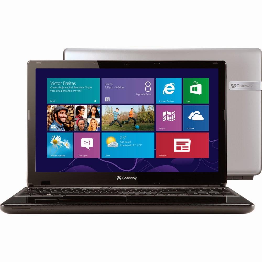"""Conheça o Notebook Gateway NE57007B by Acer com processador Intel Core i5, 4GB de memória, HD de 1TB, Tela LED 15,6"""", Conexões USB e HDMI, Bluetooth, Teclado Numérico, Bateria de 4 Células e   Windows 8. BT Informática."""