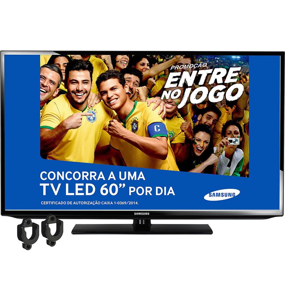 Smart TV LED 40'' Full HD Samsung UN40FH5303GXZD + Suporte Universal em ABS Preto - Indusat