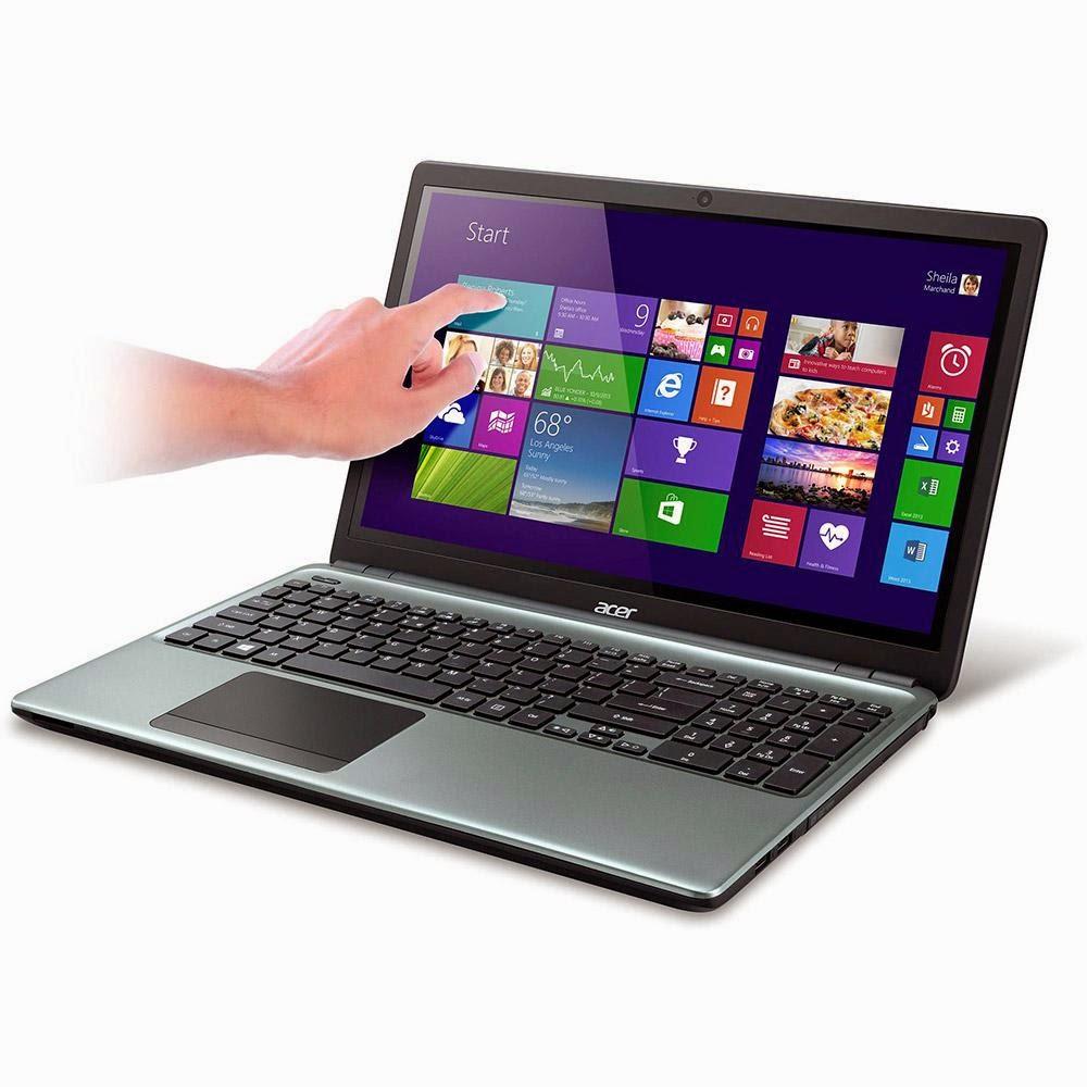 Conheça o Notebook Touch Acer E1-572P-6_BR629 Intel Core i5, Tela de 15.6'', Memória de 4GB, HD de 500GB, Windows 8.1, HDMI, USB Cinza Metálico