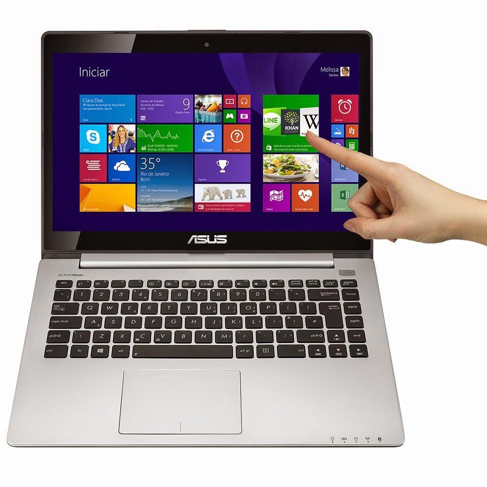 "Compre o Notebook Asus S400CA-BRA-CA214H Intel Core i3, 4GB, 500GB de HD, LED 14"", HDMI, Windows 8"