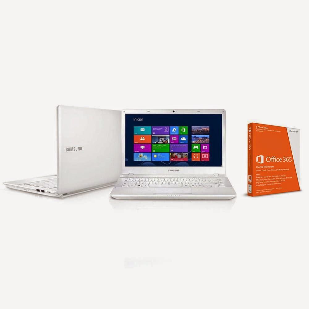 "Compre o Notebook ATIV Book 2 Samsung Intel® Core™ i3 - 3110M, 270E4E-KD5, 4GB, HD 500GB, 14"" LED HD, - Windows 8 + Mídia Microsoft Office 365 Home Premium"