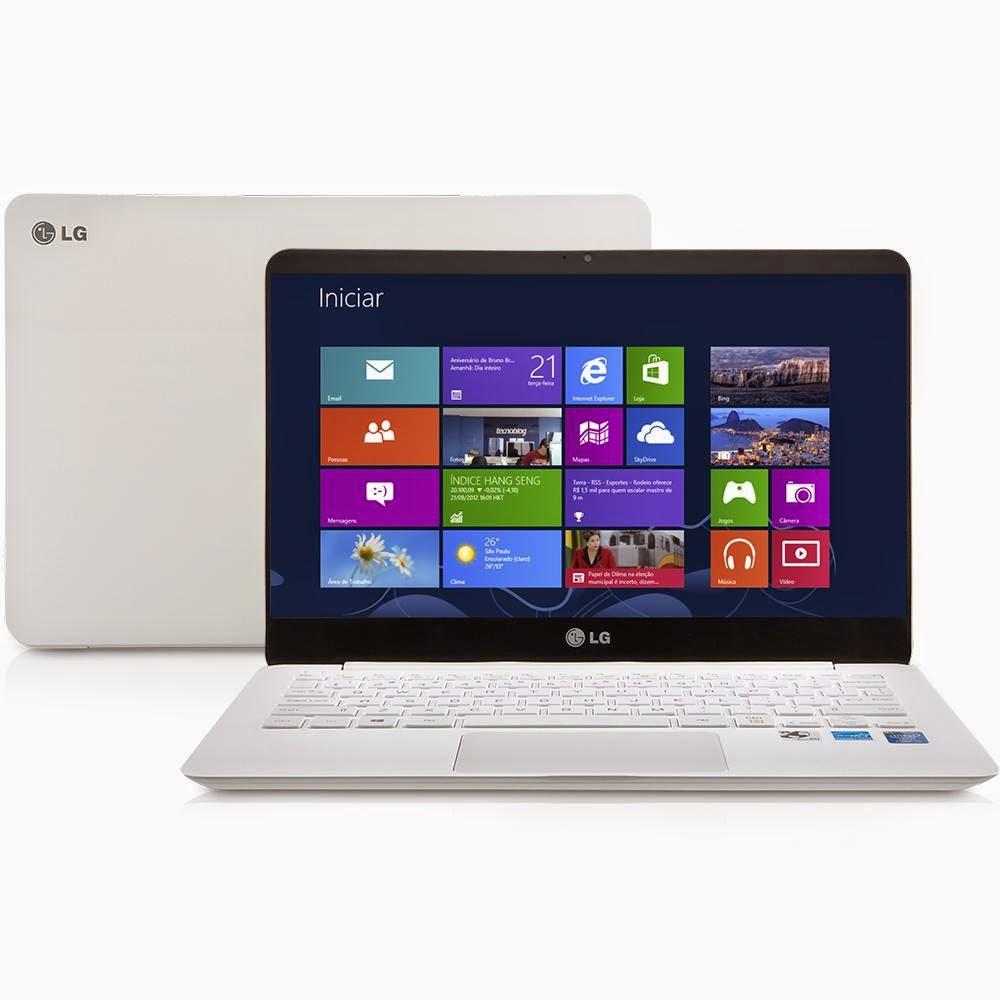 "Conheça o Notebook Ultra Slim LG 13Z940 Ultraleve Branco + Windows 8.1 + Core i7 + 4GB + 13,3"" IPS + USB 3.0 + SSD"