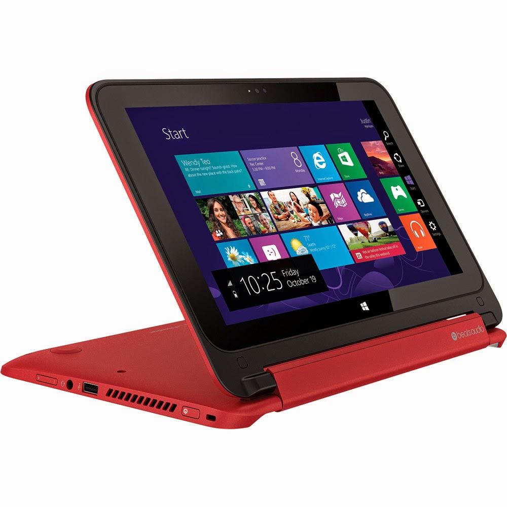 Conheça o Notebook Conversível 2 em 1 HP Pavilion x360 11-n022br Tela Touch 11.6'', Intel Celeron, RAM de 4GB, HD de 500GB, Windows 8.1, HDMI, USB - Vermelho.