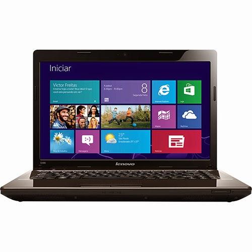 """Conheça o Notebook Lenovo G485-80C3000-2BR com AMD Dual Core 2GB 500GB LED 14"""" Windows 8 Preto. BT Informática."""