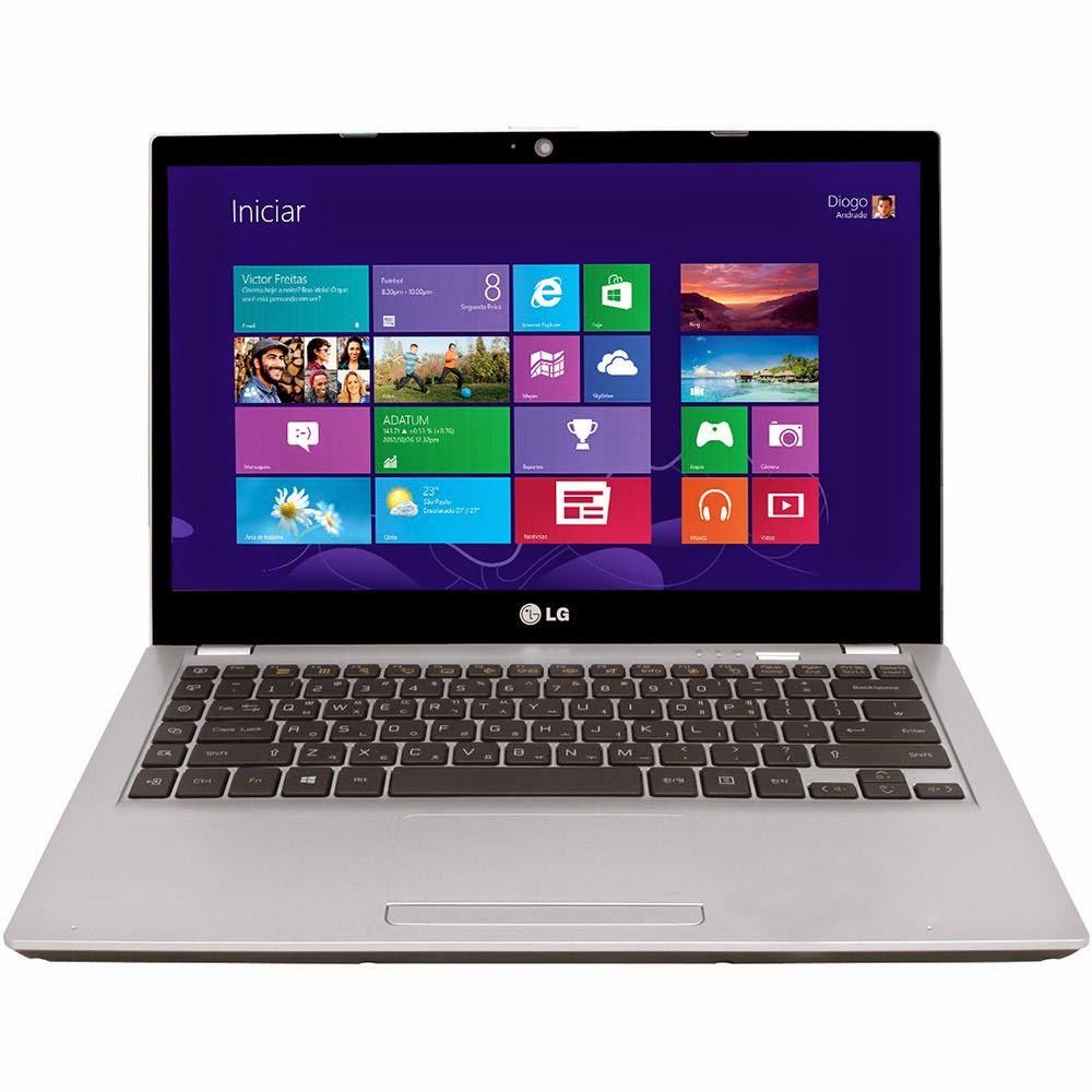 """Conheça o Ultrabook LG U460-G.BK51P1 Prata Intel Core i5, 4GB, HDD 500GB, SSD 32GB, LED 14"""", Wi-fi, HDMI e Bluetooth 4.0 - Windows 8.1"""