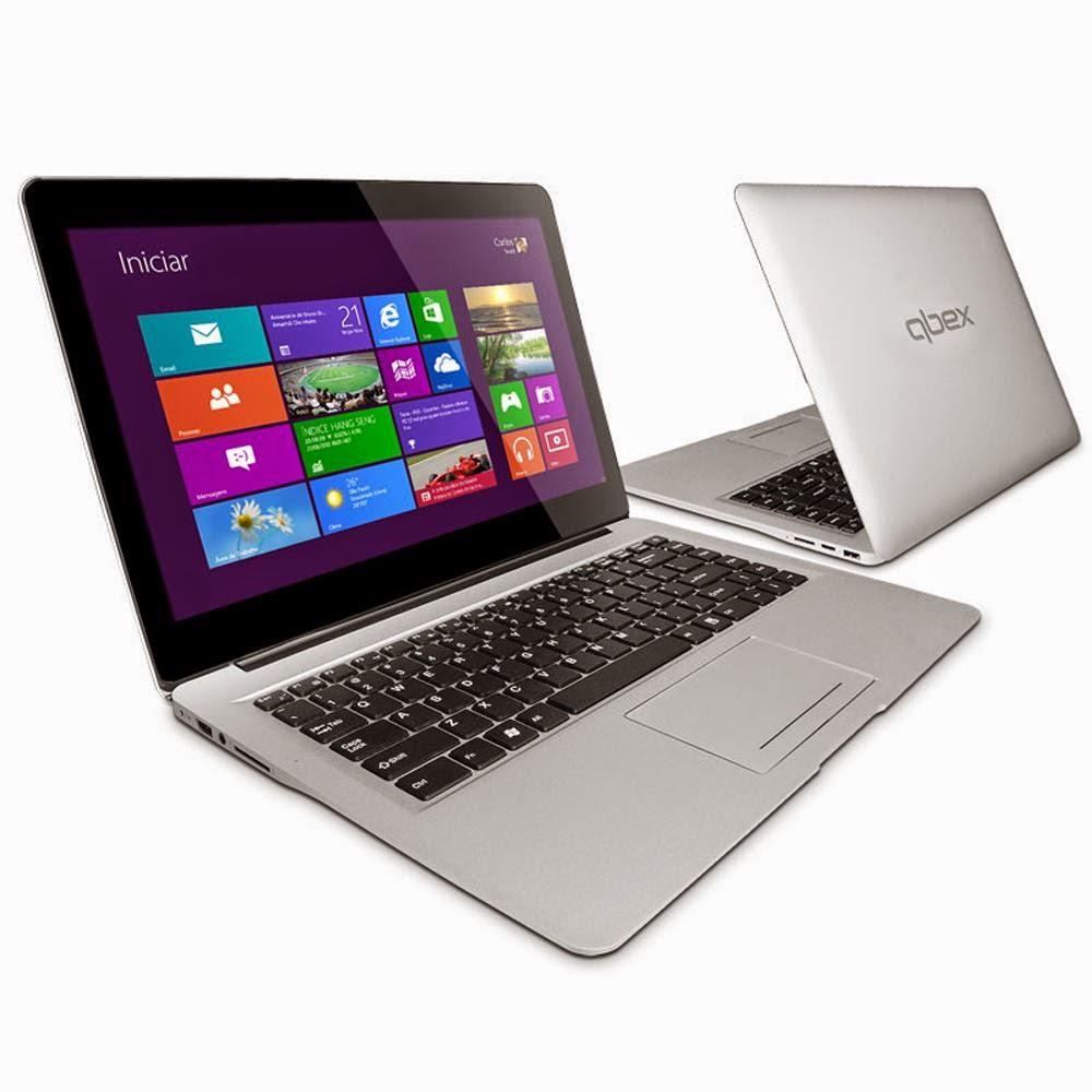"Notebook Ultrabook Touch Qbex Intel® Core® i3 - 3217U, UX642, 8GB, HD 500GB, 14"" LED Touch, HDMI, Bluetooth, Webcam e Wi-Fi - Windows 8"