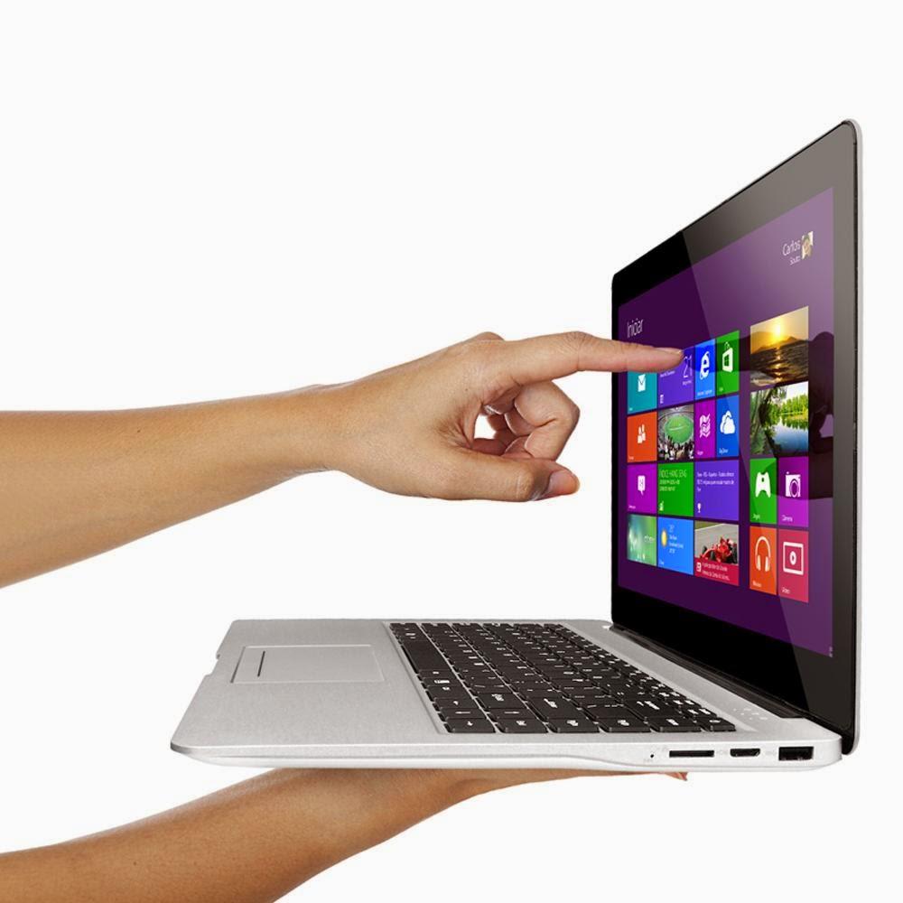 "Conheça o Notebook Ultrabook Touch Qbex Intel® Core i5 - 3317U, UX644, 4GB, HD 500GB, 14"" LED Touch, HDMI, Bluetooth, Webcam e Wi-Fi - Windows 8"