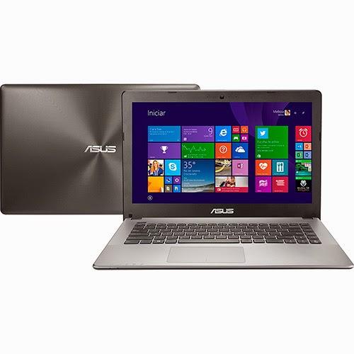 """Conheça o Notebook Asus X450LD-BRA-WX112H com processador Intel Core i5 (4200U), 8GB de memória, HD de 1TB, Tela LED de 14"""", Placa de vídeo dedicada NVIDIA GeForce GT 820M, DVD-RW, Bluetooth e Windows 8.1. BT Informática."""