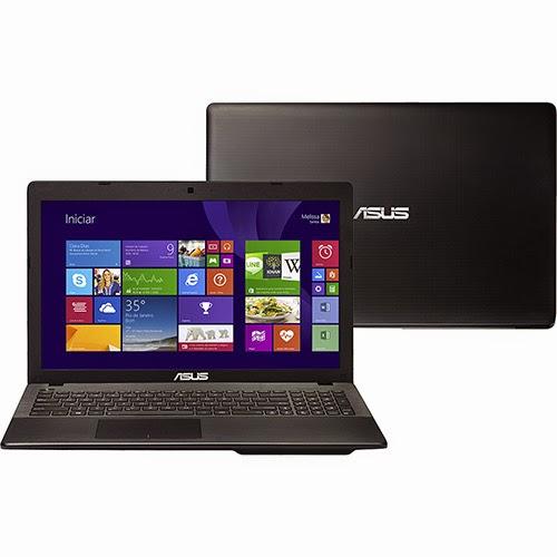 """Conheça o Notebook Asus X552EA-SX090H com processador AMD Dual Core (E1-2100), 4GB de memória, HD de 500GB, DVD-RW, Tela de 15,6"""", Windows 8. BT Informática."""