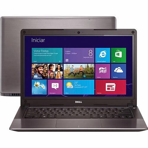 """Conheça o Notebook Ultrafino Dell Vostro V14T-5470-A50 com processador Intel Core i7(4500), 8GB de memória (2GB de Memória Dedicada), HD de 500GB, Bluetooth, Bateria de 3 Células, Conexões USB e HDMI, Placa de vídeo Nvidia GT740M com 2GB DDR3L, tela LED 14"""" e Windows 8. BT Informática."""