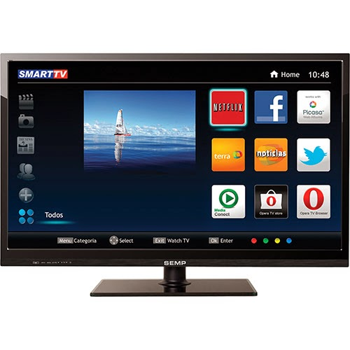 """Conheça a Smart TV Semp Toshiba Full HD 40"""" LE4057iC com 2 entradas USB, 3 HDMI, Wi-Fi, Progressive Scan, Integrado e frequência de 60Hz. BT Informática."""