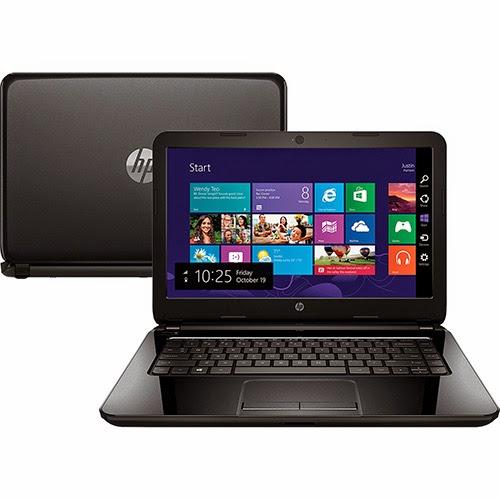 """Conheça o Notebook HP 14-r052Br com processador Intel Core i5 (4210U), 4GB de memória, HD de 500GB, Gravador de DVD, Bateria de 4 Células, Conexões USB (sendo 1 porta 3.0) e HDMI, Tela de 14"""", peso aproximado de 1,9kg e Windows 8.1. BT Informática"""