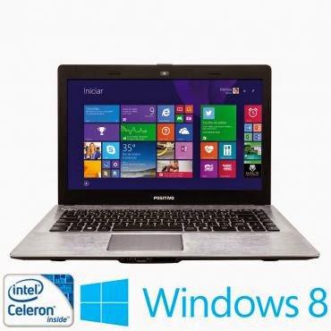 """Conheça o Notebook Positivo Stilo XR 2990 com Processador Intel® Celeron Dual Core (N2806), 2GB de memória RAM, HD de 320GB HD, Tela de 14"""", Conexões USB e HDMI, Leitor de Cartões, Peso aproximado de 1,7kg e Windows 8.1. BT Informática."""