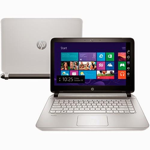"""Conheça o Notebook HP Pavilion 14-v065br com processador Intel Core i7 (4510U) de 2 GHz a 3.1 GHz e 4 MB cache, 8GB de Memória, HD de 1TB, Gravador de DVD, Conexões USB e HDMI, Bluetooth, Tela Led 14"""", Bateria de 4 Células, Peso aproximado de 2kg e Windows 8.1. BT Informática."""