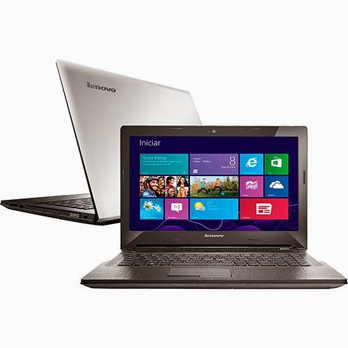 """Conheça o Notebook Lenovo G40-70 80GA000EBR com Processador Intel Core 4 I3 (4005U), 4GB de memória, HD de 1TB, Tela  LED de 14"""", DVD-RW, Conexões USB e HDMI, Bluetooth, Bateria de 4 células, Peso aproximado de 2,1kg e Windows 8.1. BT Informática"""