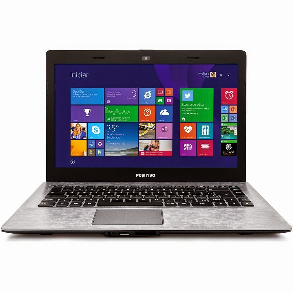 """Conheça o Notebook POSITIVO Stilo Chumbo XR2998 (3000775) com Processador Intel Celeron, 2GB de Memória RAM, HD de 320GB, Tela LED de 14"""", Conexões USB e HDMI, Wi-Fi, Bateria de 2 Células, DVD-RW,  Peso aproximado de 1,70kg e Windows 8.1. BT Informática."""