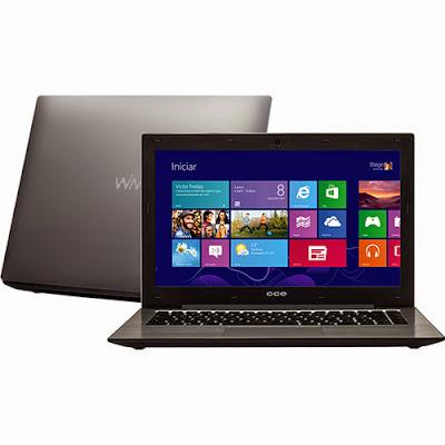"""Conheça o Notebook Ultrafino CCE S345 com processador Intel Core i3 (3217U), 4GB de Memória, HD de 500GB, Tela LED de 13,3"""", Conexões USB e HDMI, Bateria de 3 Células, Peso aproximado de 2,1kg e Windows 8. BT Informática."""