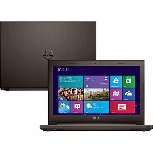 """Conheça o  Notebook Dell Inspiron i14-3442-A30 com processador Intel Core i5 (4210U), 4GB de Memória, HD de 1TB, Tela LED de 14"""", Conexões USB e HDMI, Bluetooth, DVD-RW, Bateria de 4 Células, Peso aproximado de 2kg e Windows 8.1. BT Informática."""