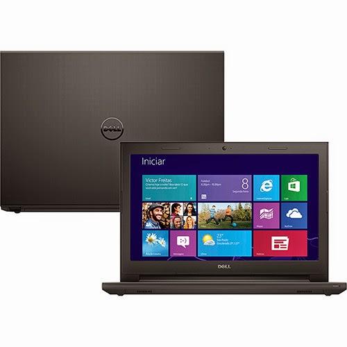 """Conheça o Notebook Dell Inspiron i14-3442-A40 com Intel Core i5 (4210U), 8GB de memória, HD de 1TB, Placa de vídeo Geforce GT 820M com 2 GB de memória dedicada, Tela LED 14"""", Conexões USB e HDMI, Bluetooth, DVD-RW, Peso aproximado de 2kg e Windows 8.1. BT Informática."""