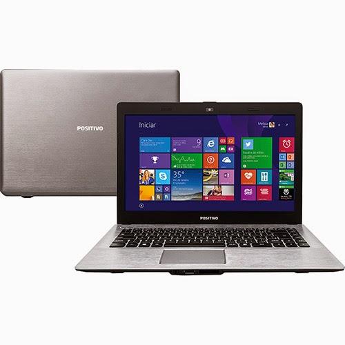 """Conheça o Notebook Positivo Stilo XR3210 com processador Intel Celeron Dual Core (N2806), 4GB de memória, HD de 500GB, Gravador de DVD, Bateria de 2 Células, Conexões USB e HDMI, Tela LED 14"""", Peso aproximado de 1,7kg e Windows 8.1. BT Informática."""