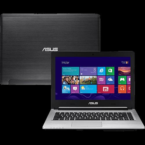 """Conheça o  Ultrabook Asus S46CA-WX160H com Processador Intel Core i7 (3517U), 6GB de memória, HD de 1TB +24GB SSD, Tela LED de 14"""", DVD_RW, Bateria de 4 Células, Conexões USB e HDMI, Bluetooth, Peso aproximado de 2,kg Windows 8. BT Informática."""