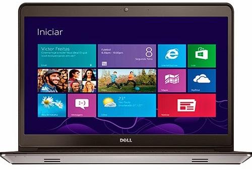"""Conheça o Notebook Dell Inspiron i14-5447-A30 com Processador Intel Core i7 (4510U) de 2 GHz a 3.1 GHz e 4MB cache, 8GB de memória, HD de 1TB, Tela LED HD de 14"""" Touchscreen, Placa de Vídeo AMD Radeon HD R7 M265 com 2 GB de memória dedicada, Conexões USB e HDMI, não possui unidade de DVD, Bateria de 3 células, Peso aproximado de 2,2kg e Windows 8.1."""