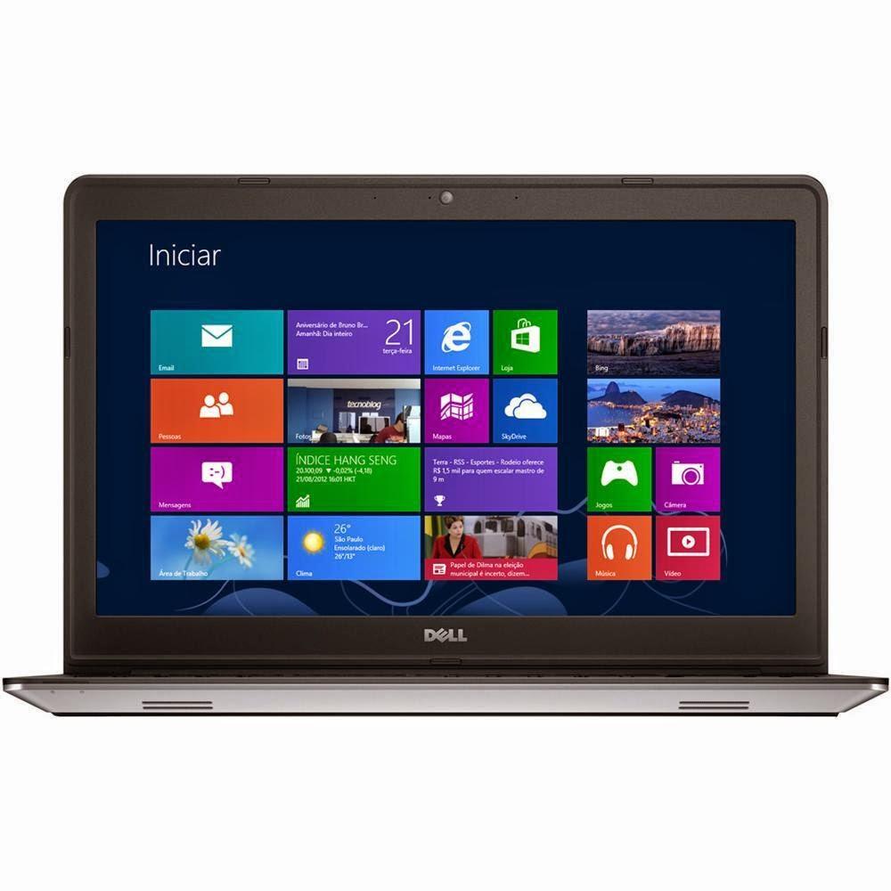 """Conheça o Notebook Dell Inspiron 15-5447-A05 com Processador Intel Core i5, 4GB de memória RAM, HD de 500GB, Tela de 15,6"""", Conexões USB e HDMI, Placa de Vídeo com 2G de memória dedicada, Bateria de 4 Células, Peso aproximado de 2,2kg e Windows 8.1. Notebook Dell Inspiron 15 5447 A05 BT Informática."""