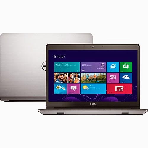 """Conheça o Notebook Dell Inspiron i14-5447-A10 com Processador Intel Core i5 (4210U), 4GB de memória,  HD de 1TB, Tela LED de HD 14"""", Placa de Vídeo Radeon HD R7 M265 com 2GB de memória dedicada, Conexões USB e HDMI, Não possui drive de DVD, Bateria de 3 Células, Peso aproximado de 2,2kg e Windows 8.1. BT Informática."""