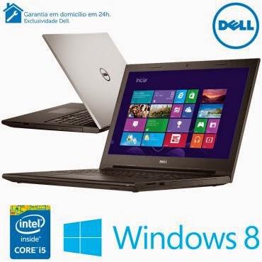 """Conheça o  Notebook Dell Inspiron i15-3542-A30 com Processador Intel Core i5 (4210U) de 1.7 GHz a 2.7 GHz e 3 MB cache, 4GB de memória, HD de 1TB, Tela LED de 15,6"""", Conexões USB e HDMI, DVD-RW, Bateria de 4 Células, Peso aproximado de 2,4kg e Windows 8.1. BT Informática."""