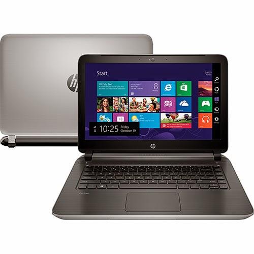 """Conheça o Notebook HP 14-v064Br com Processador Intel Core i5 (4210U) de 1.7 GHz a 2.7 GHz e 3 MB cache, 8GB de memória, HD de 1TB, Tela de 14"""", Placa de vídeo GeForce 830M com 2GB de Memória Dedicada,  Gravador de DVD, Bateria de 4 Células, Conexões USB e HDMI, Peso aproximado de 1,98kg e Windows 8.1. Referência do Modelo: F4J47LA#AC4 BT Informática."""