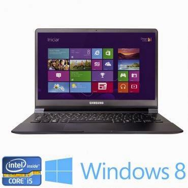 """Conheça o Notebook Samsung ATIV Book 9 NP900X3G-KD1 BR com Processador Intel® Core™ i5 (4200U) de 1.6 GHz a 2.6 GHz e 3 MB cache, Tela de 13,3"""" FullHD, 4GB de Memória, SSD de 128GB, Conexões USB e HDMI, Bateria de 4 células, Peso aproximado de 1,3kg e Windows 8.1. BT Informática."""