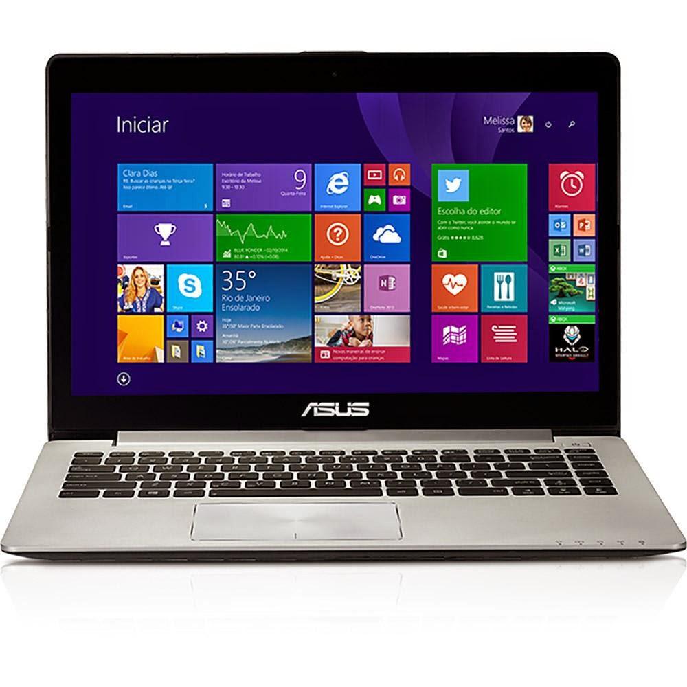 """Conheça o Notebook Touch Asus S400CA-BRA-CA205H com Processador Intel Celeron (1007U) de 1.5 GHz e 2mb cache, 2GB de memória RAM, HD de 500GB, Tela LED de 14"""" Touch, Conexões USB e HDMI, Peso aproximado de 1,83kg e Windows 8. BT Informática."""