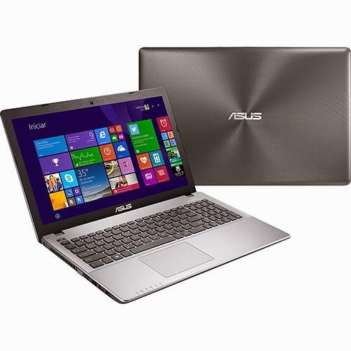 """Conheça o Notebook Ultrafino Asus X550LN-BRA-DM552H com processador Intel Core i7 (4510U) de 2GHz a 3.1 GHz e 4 MB cache, 8GB de Memória, HD de 1TB, Tela LED de 15,6"""", Placa de vídeo Geforce GT 840M com 2 GB de memória dedicada, Conexões USB e HDMI, DVD-RW, Bateria de 4 Células, Peso aproximado de 2,3kg e Windows 8.1. BT Informática."""