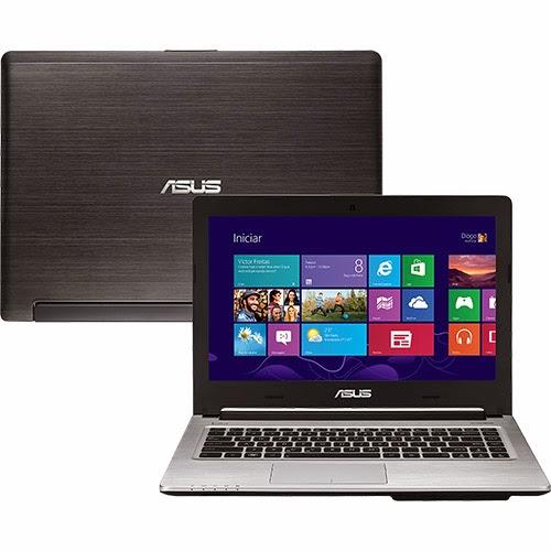 """Conheça o Ultrabook ASUS S46CB-BRAZIL-WX236H com processador Intel Core i7 (3517U) de 1.9 GHz a 3 GHz e 4 MB cache, 6 GB de memória RAM, HD de 1TB, SSD cache de 24GB, Tela LED de 14"""", Placa de vídeo Geforce GT 740M com 2 GB de memória dedicada, DVD-RW, Conexões USB e HDMI, Peso aproximado de 2kg e Windows 8. BT Informática. Referência do Modelo: 90NB0111-M03270"""