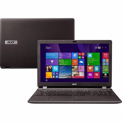 """Conheça o Notebook Acer ES1-512-C59L com Processador Intel Celeron Quad Core (N2940) de 1.83 GHz a 2.25 GHz e 2 MB cache, 4GB de memória, HD de 500GB, Tela LED de 15.6"""", Conexões USB e HDMI, Gravador de DVD, Bateria de 4 Células, Peso aproximado de 2,4kg e Windows 8.1. Referência do Modelo: NX.MTZAL.002 BT Informática."""