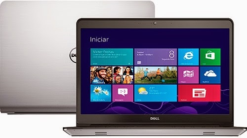 """Conheça o Notebook Dell Inspiron i15-5547-A20 com Processador Intel Core i7 (4510U) de 2 GHz a 3.1 GHz e 4 MB cache, 8GB de memória, HD de 1TB, Placa de vídeo AMD Radeon HD R7 M265 com 2 GB de memória dedicada, Tela LED Full HD de 15,6"""" Touchscreen, Conexões USB e HDMI, Bateria de 3 Células, Peso aproximado de 2,2kg e Windows 8.1."""