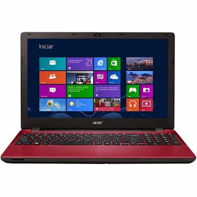 """Conheça o Notebook Acer E5-571-50JA com processador Intel Core i5 (4210U) de 1.7 GHz a 2.7 GHz e 3 MB cache, 6GB de memória, HD de 1TB, Tela de 15.6"""", Conexões USB e HDMI, Gravador de DVD, Bateria de 6 células, Peso aproximado de 2,5kg e Windows 8.1 BT Informática."""