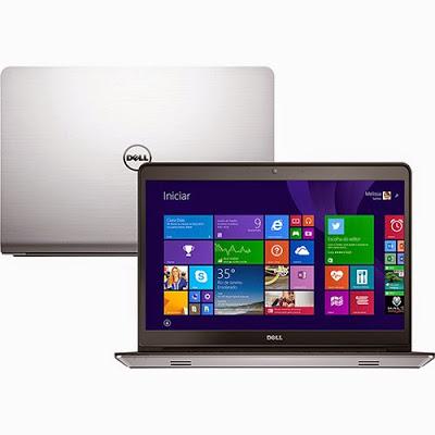 """Conheça o Notebook Dell Inspiron i14-5448-A30 com processador Intel Core i7 (5500U) de 2.4 GHz a 3 GHz e 4 MB cache, 8GB de memória, HD de 1TB, Tela LED HD de 14"""" Touch, Placa de vídeo AMD Radeon R7 M265 com 2 GB de memória dedicada, Conexões USB e HDMI, Não possui drive de DVD, Bateria de 3 Células, Peso aproximado de 2,7kg e Windows 8.1 BT Informática."""
