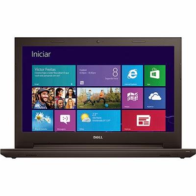 """Conheça o Notebook Dell Inspiron i15-3542-A10 com processador Intel Core i3 (4005U) de 1.7 GHz e 3 MB cache, 4GB de memória, HD de 1TB, Tela LED de 15,6"""", Conexões USB e HDMI, Gravador de DVD, Bateria de 4 Células, Peso aproximado de 2,4kg e Windows 8.1. Referência do Modelo: Inspiron 3000 - I15-3542-A10. BT Informática."""
