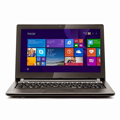 """Conheça o Notebook Touch Positivo Premium S2300 (3011172) com processador Intel Celeron Dual Core (1017U) de 1.6 GHz e 2 MB cache, 2GB de memória, HD de 320GB, Tela de 11.6"""", Conexões USB e HDMI, Bateria de 4 Células, peso aproxaimado de 1,6kg e Windows 8.1. Modelo Referência: 3011172. BT Informática."""