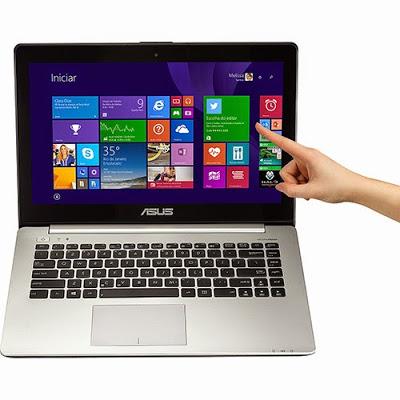 """Conheça o Notebook Ultrafino Asus Vivobook S451LA-CA033H (90NB02U1-M00340) com processador Intel Core i7 (4500U) de 1.8 GHz a 3 GHz e 4 MB cache, 6GB de memória, HD de 750GB, Tela LED de 14"""" Touch, Conexões USB e HDMI, Drive de DVD, Bateria de 4 células, Peso aproximado de 2,2kg e Windows 8. Referência do Modelo: 90NB02U1-M00340. BT Informática."""