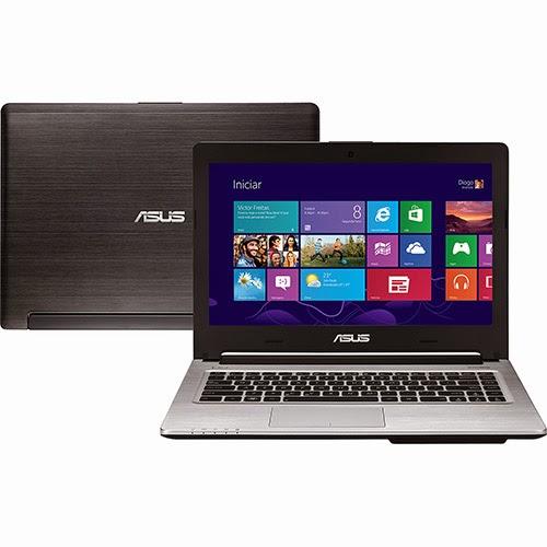 """Conheça o Ultrabook ASUS S46CA-WX159H com processador Intel Core i5 (3317U) de 1.7 GHz a 2.6 GHz e 3 MB cache, 8GB de memória, HD de 1TB + 24GB SSD cache, Tela LED de 14"""",  Conexões USB e HDMI, Gravador de DVD, Bateria de 4 células, Peso aproximado de 2 kg e Windows 8. Referência do Modelo: 90NPV951481DC54Z16IU. BT Informática."""
