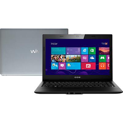 """Conheça o Notebook CCE F40-30 (4030CCE004) com processador Intel Celeron Dual Core (N2830) de 2.16 GHz a 2.41 GHz e 1 MB cache, 4GB de memória, HD de 500GB, Tela LED de 14"""", Conexões USB e HDMI, Drive de DVD, Bateria de 3 células, Peso aproximado de 1,8kg e Windows 8.1. BT Informática."""