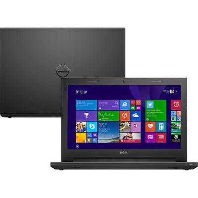 """Conheça o Notebook Dell Inspiron i14-3443-B40 com processador Intel Core i5 (5200U) de 2.2 GHz a 2.7 GHz e 3 MB cache, 8GB de memória, HD de 1TB, Tela LED de 14"""", Placa de vídeo Geforce GT 820M com 2 de memória dedicada, Conexões USB e HDMI, Drive de DVD, Bateria de 4 células, Peso aproximado de 2kg e Windows 8.1. BT Informática."""