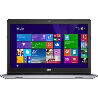 """Conheça o Notebook Dell Inspiron i15-5548-B10 com processador Intel Core i5 (5200U) de 2.2 GHz a 2.7 GHz e 3 MB cache, 8GB de memória, HD de 1TB, Tela LED de 15,6"""", Placa de vídeo AMD Radeon HD R7 M265 com 2 GB de memória dedicada, Conexões USB e HDMI, não possui drive de DVD, Bateria de 3 células, peso aproximado de 2,2kg e Windows 8.1. BT Informática."""